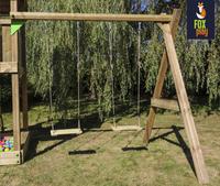 Fox play schommel met speeltoren Riverside met appelgroene glijbaan-Artikeldetail