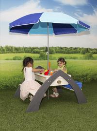 AXI table de pique-nique pour enfants Delta Sable et Eau avec parasol-Image 2