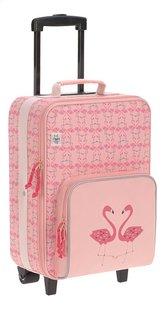 Lässig zachte reistrolley Flamingo 46 cm-Linkerzijde