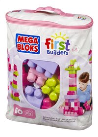 Mega Bloks First Builders Sac de blocs rose-Côté gauche