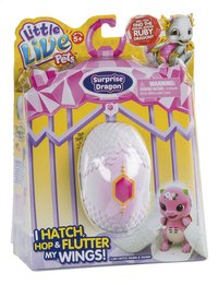 Interactieve figuur Little Live Pets Surprise Dragon roze/paars-Linkerzijde