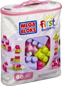Mega Bloks First Builders Big Building Bag roze - 60 stuks-Linkerzijde