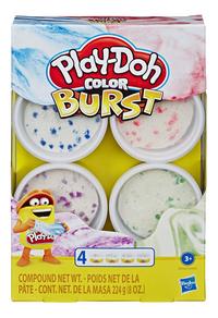 Play-Doh Color Burst 4 pots - bleu-Avant