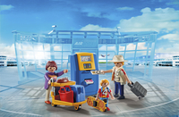 Playmobil City Action 5399 Famille de vacanciers et borne d'enregistrement-Image 1