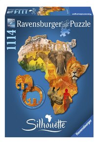 Ravensburger puzzle Silhouette Continent africain