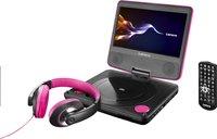 Lenco lecteur DVD portable DVP-754 7'' avec casque audio rose-Détail de l'article