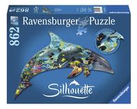 Ravensburger puzzel Silhouet Dolfijnenwereld