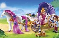 Playmobil Princess 6856 Calèche royale avec cheval à coiffer-Image 1