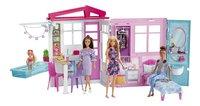 Barbie poppenhuis met zwembad en pop-Afbeelding 1