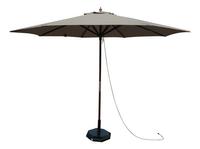 Parasol de luxe en bois FSC Ø 3 m taupe-Avant