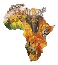 Ravensburger puzzle Silhouette Continent africain-Avant