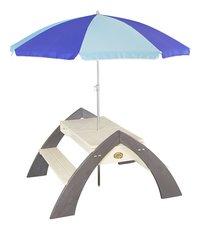 AXI table de pique-nique pour enfants Delta Sable et Eau avec parasol-Avant