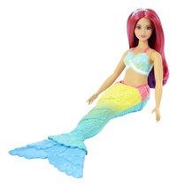 Barbie mannequinpop Dreamtopia Zeemeermin met roos haar-Artikeldetail