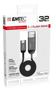 Emtec câble USB vers Lightning T750 3 en 1 - 32 Go-Côté gauche