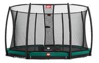 Berg trampoline enterré avec filet de sécurité Champion Inground Ø 3,30 m Green-Avant