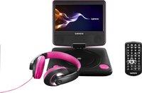 Lenco draagbare DVD-speler DVP-754 7'' met hoofdtelefoon roze