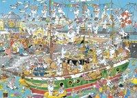 Jumbo puzzle Jan Van Haasteren Chaos de grand voilier-Avant