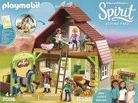 PLAYMOBIL Spirit 70118 Grange avec Lucky, Apo et Abigaëlle-Avant