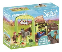 PLAYMOBIL Spirit 70120 Knip en Meneer Worteltjes met paardenbox-commercieel beeld