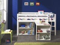 Boekenkast Pino wit decor-Afbeelding 1