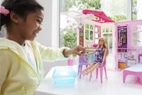 Barbie poppenhuis met zwembad en pop-Afbeelding 2