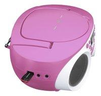 Lenco radio/lecteur CD SCD-200 rose clair-Vue du haut