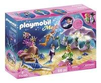 PLAYMOBIL Magic 70095 Coquillage lumineux avec sirènes-Côté gauche