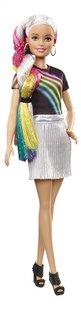 Barbie mannequinpop Regenboog glitterhaar-Linkerzijde