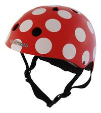 Kiddimoto Casque-vélo dotty rouge