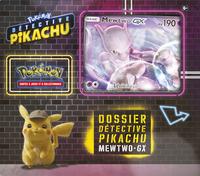 Pokémon JCC Détective Pikachu Dossier Mewtwo-GX-Avant