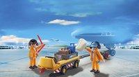 PLAYMOBIL City Action 5396 Agents avec tracteur à bagages-Image 1