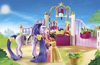 PLAYMOBIL Princess 6855 Koninklijke stal met paard om te kammen-Afbeelding 1