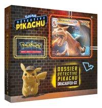 Pokémon JCC Détective Pikachu Dossier Dracaufeu-GX-Côté gauche