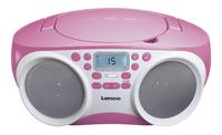 Lenco radio/lecteur CD SCD-200 rose clair-Avant
