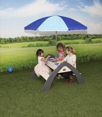AXI table de pique-nique pour enfants Delta Sable et Eau avec parasol-Image 3