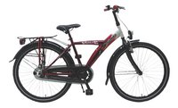Volare citybike Thombike rood/zilver 24'