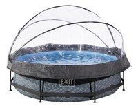 EXIT Zwembad Stone met overkapping Ø 3 m-Vooraanzicht