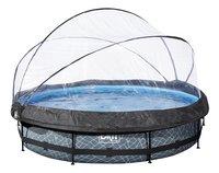 EXIT zwembad Stone met overkapping Ø 3,6 m-Vooraanzicht