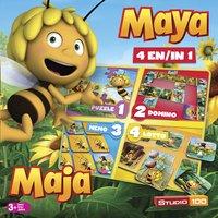 Boîte de jeux 4 en 1 Maya l'Abeille