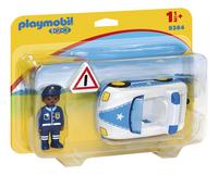 PLAYMOBIL 1.2.3 9383 Politiewagen-Linkerzijde