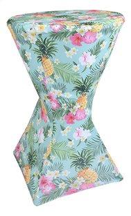 Stretchhoes voor statafel Tropical diameter 80 cm ananas en bloemen-Linkerzijde
