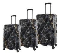 Saxoline harde trolleyset met 3 koffers Marble Black-commercieel beeld