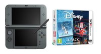 Nintendo console New 3DS XL zwart + Frozen / Big Hero 6 Double pack NL/FR