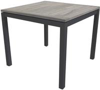 Table de jardin Marbella grey wash/anthracite L 90 x Lg 90 cm