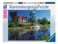 Ravensburger puzzel Götakanaal, Zweden-Vooraanzicht