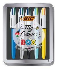 Bic vierkleurenbalpen My 4 Colours BOX - 5 stuks-Vooraanzicht