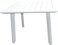 Table de jardin Nice blanc 100 x 100 cm-Avant