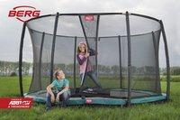 Berg trampoline enterré avec filet de sécurité Champion Inground Ø 2,70 m Green-Image 4