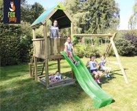 Fox play schommel met speeltoren Riverside met appelgroene glijbaan
