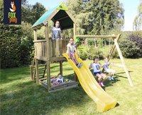 Fox play schommel met speeltoren Riverside met gele glijbaan